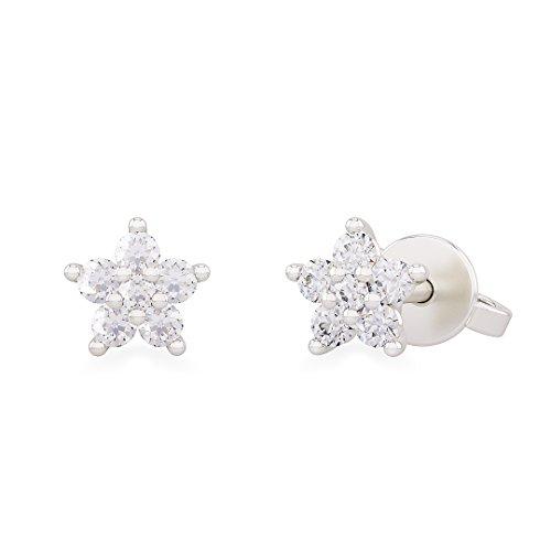 Orecchini donna LUCE in oro bianco 18kt e palladio con diamanti - ct 0,16