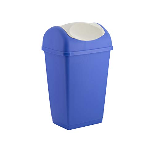 Axentia Testrut 235676 - Cubo de Basura con Tapa basculante 15 L, Color Azul