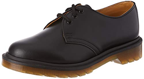 Dr. Martens 1461 PW - Smooth - Chaussures de ville Homme, Noir (Black Smooth) 44 EU (9.5 UK)