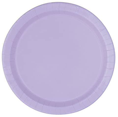 23cm Lavender Party Plates, Pack of 8