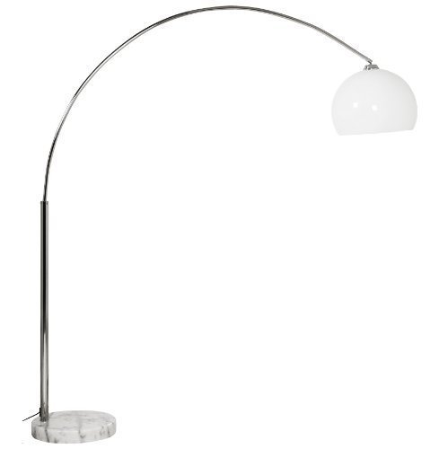 Lampadaire design en arc 'BIG BOW XL' abat-jour blanc