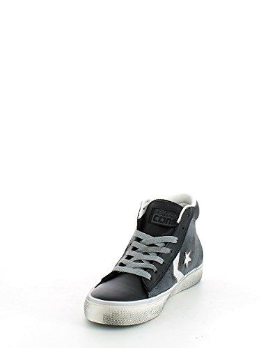 Converse Pro Lthr Vulc Mid, Sneakers Homme Gris