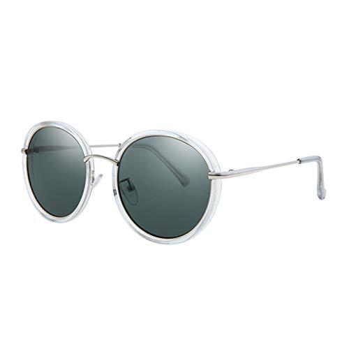 Daawqee Women Sunglasses Round Frame Vintage Designer Ladies Retro Shades For Women Oculos Feminino C2 crystal