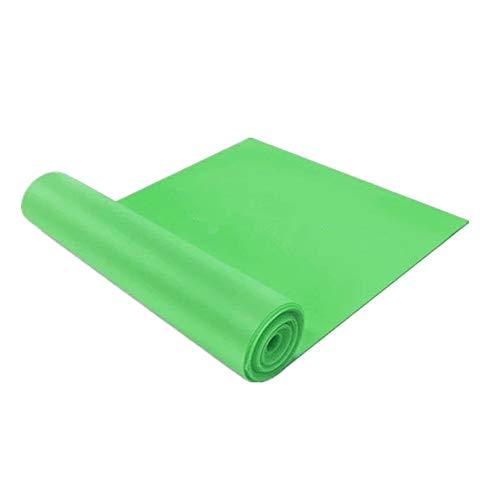GFEU Yoga-Bänder zum Dehnen, 1,5 m, elastisch, Naturlatex, Widerstandsband für Sport, Fitness, Yoga, Pilates, grün