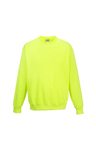 Awdis - Felpa Girocollo Colori Elettrici - Uomo Gelb - Electric Yellow