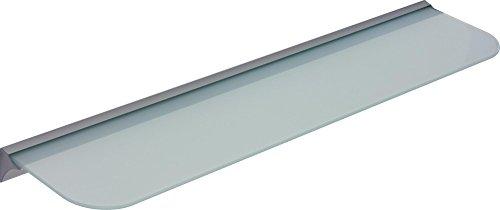 IB-Style - Glasregal SATINIERT + Klemmleiste für 6 und 8 mm Böden mm SILBERMATT | Stärke 6 mm | 11 Abmessungen | Klarglas oder Satiniert | 600x300x6 mm SATINIERT - Regalsystem Wandregal Glasablage Glasboden Glasplatte Glas regal Badablage Wandablage
