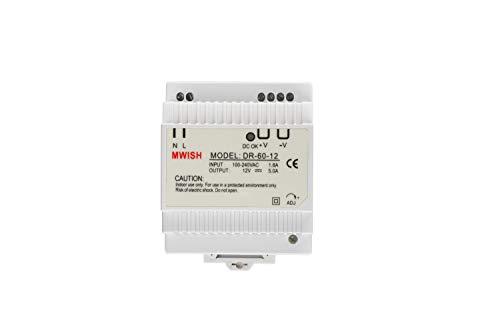 TMEZON DR-60-12 Transformator Netzteil Elektrisch DIN 100-240VAC / 1.8A 12V / 5.0A Netzteil Professioneller Gebrauch