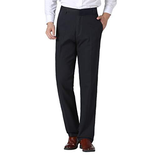 Skxinn Anzughose/Herren Hosen Stretch & komfortablem Sitz, Herren-Hose in Mehreren Farben, Chino für Herren, für Business & Freizeit(Marine,34)