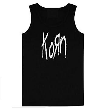 KORN - LOGO - Producto oficial de para mujer de costura para chalecos de