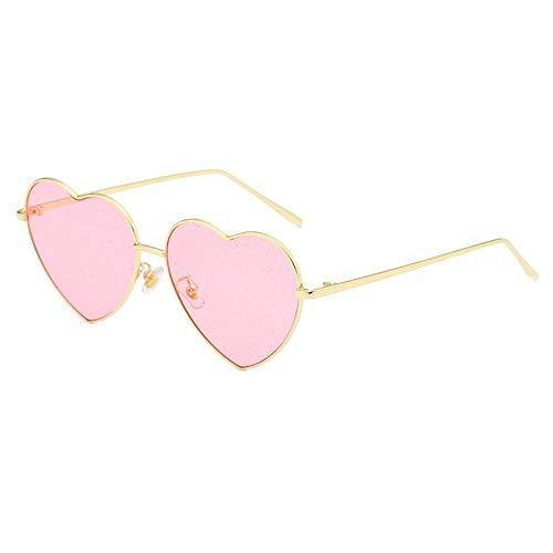 Sonnenbrille,Sexy Sonnenbrille Frauen Kies Sonnenbrille Für Männer Vintage Liebe Herz Form Sommer Weiblich Schattierungen Golden Pink