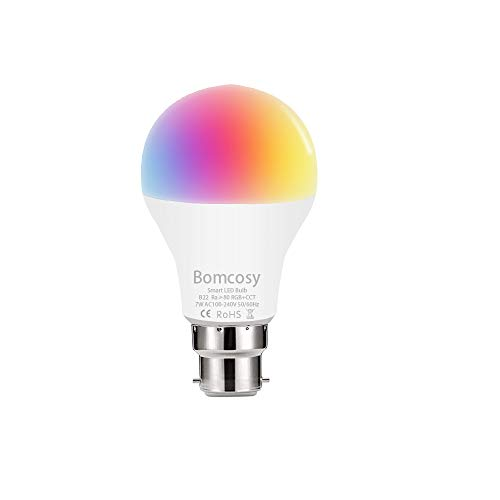 Smart LED Wifi Lampe Mehrfarbige LED Dimmbare Lampe 7W 60W Aquivalent RGBCW Glühbirne A60 Smartphone Gesteuert Arbeitet mit Alexa und Google Home Fernbedienung von IOS Android Keine Hub Erforderlich