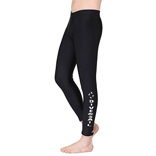A Point Schwimmhose - Schwimmhose - Schwimmhose - Tauchhose für Damen und Herren, Men's Black, Medium - Frei Von Chemikalien Sonnenschutzmittel