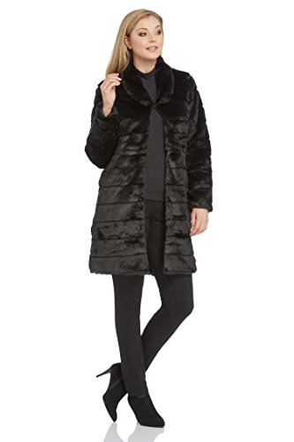 Roman Originals Women's Longline Faux Fur Coat