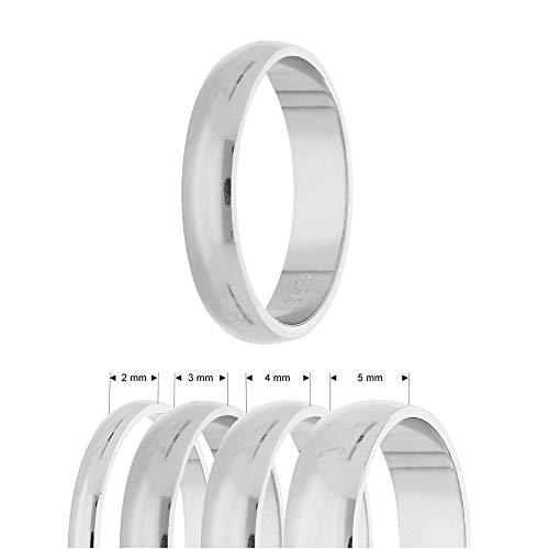 Ring - 925 Silber - Glänzend - 4 Breiten - Silber [03.] - Breite: 2mm - Ringgröße: 51