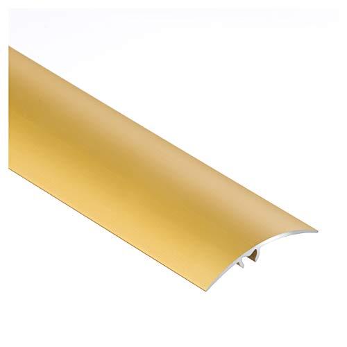 Aluminium-Türschwelle, Übergangsprofil, Schutzleiste, Übergangsschiene mit Befestigungsstifte, 50 x 1000 mm Gold - CEZAR