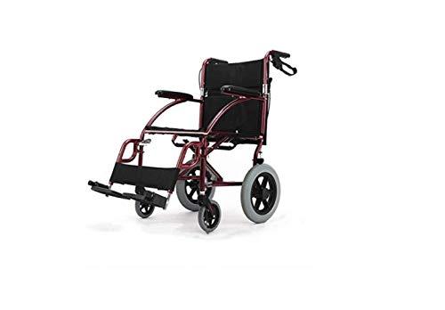 Rollstuhl Älterer Rollstuhl - Zusammenklappbarer Transportrollstuhl Mit Handbremsen - Abnehmbares Fußpedal Mit Aufbewahrungstasche - Unterstützung Bis Zu 30 Kg,A,A - Körper-handschuh-kinder T-shirt