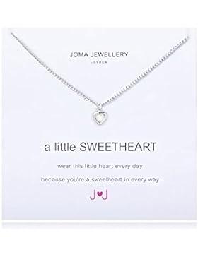 Joma Jewellery Halskette A Little Sweetheart, Kristallsteine, Herzmotiv