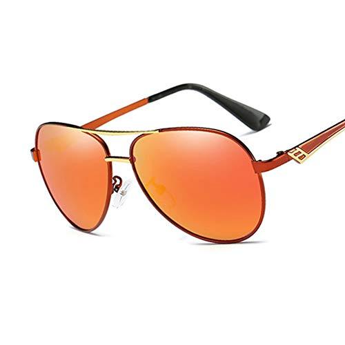 Sonnenbrille Männer Fahren Sonnenbrille Weiblichen Eyewear Pilot Stil Polarisierte Gläser Fashion Frame Design Neue Rot Orange