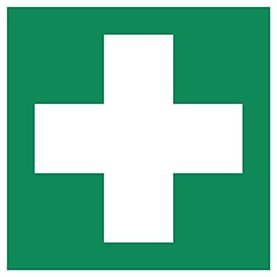 Erste Hilfe Aufkleber - Aufkleber Erste Hilfe vorgestanzt für Innen & Außen mit UV Schutz, witterungsbeständig, selbstklebend, Verbandkasten Aufkleber Verbandskasten, Rettungszeichen, Erste Hilfe Schild überkleben, Warnzeichen - Aufkleber von Aufklebo
