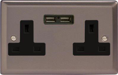 varilight-classic-pewter-2-gang-13-amp-socket-2x-usb-charging-port-black-inserts
