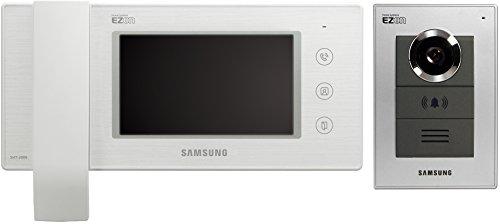 """Preisvergleich Produktbild Samsung Video Türsprechanlage 6"""" LCD Innenstation mit 1-Fam. Außenstation Komplett Set weiß"""