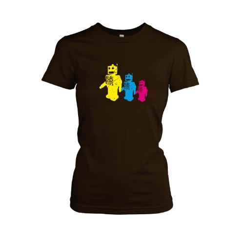 TEXLAB - Three Robots - Damen, T-Shirt Braun
