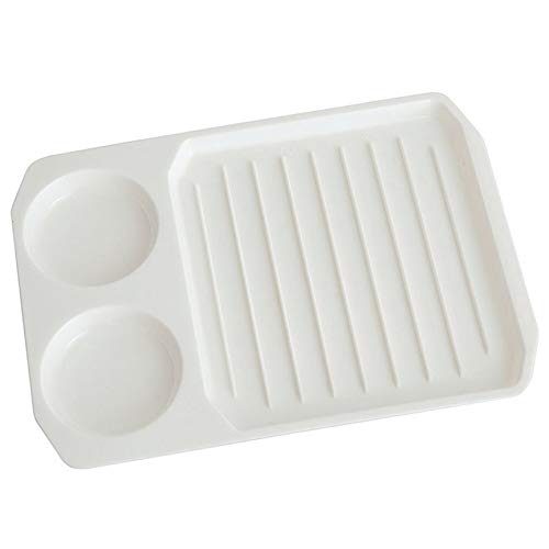 vcbbvghjghkhj-UK Kreativer Mikrowellen-Speck-Eierkocher-Speck-Backblech-Teller-Küche-Versorgungsmaterial-Weiß (Speck-teller Für Mikrowelle)