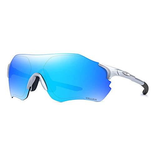 ANSKT Polarisierte Sonnenbrille Reitbrille Outdoor Sports Bike Windschutzscheibe Lightweight Frameless mit 2 Wechselgläsern, 1