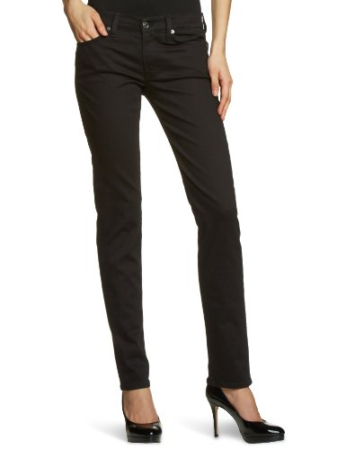 7 For All Mankind - Jeans, slim, donna, Nero (Schwarz (Portland Black 100)), 38 IT (24W/34L)