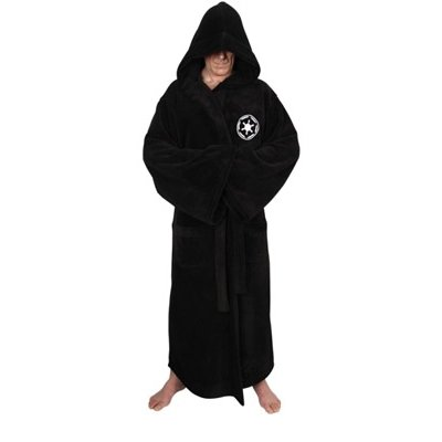 ium Bademantel, schwarz, one-size (Jedi Bademantel)