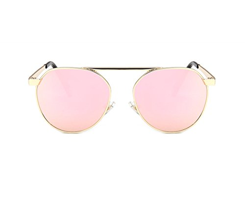 zhbotaolang Kinder Sonnenbrille Coole Spiegel Reflektierende Metallrahmen Jungen Mädchen Sonnenbrille UV400(Rosa) - Taos Spiegel