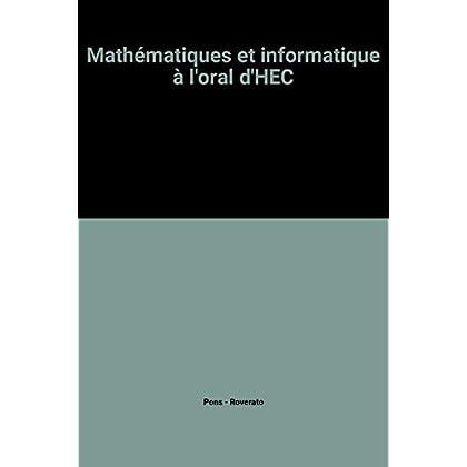Mathématiques et informatique à l'oral d'HEC