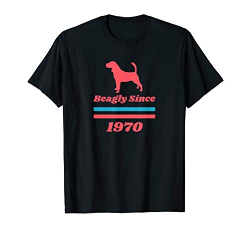 Beagleart Herren Damen Kinder Beagle Beagly Since 1970 T-Shirt -
