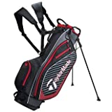 TaylorMade PRO Stand 6.0 - Borsa da Golf, Uomo, M7108301, Black/Red, Taglia Unica