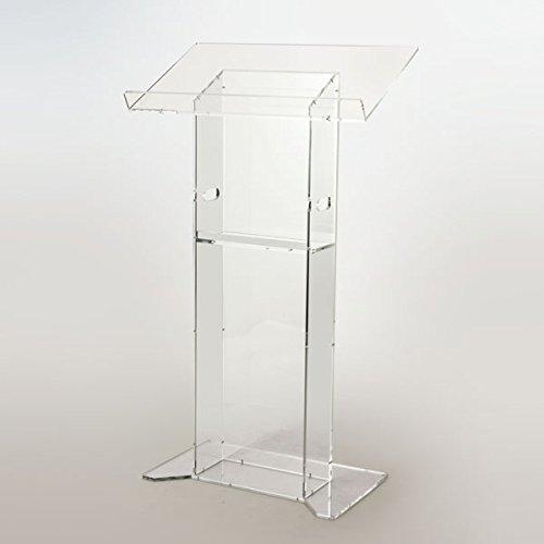 Moderne Acryl Kirche Stil Rednerpult/Podium mit Ablage–Klar Diamant Poliert