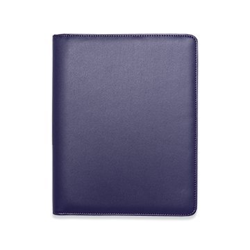Boxclever Press Essentials A5 diary cover in faux leather with zip-round fastening. Nurses NHS diary cover, journal cover (Dark Purple)