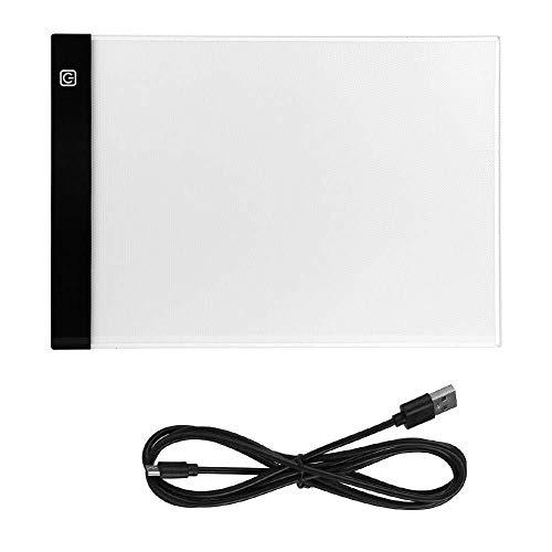 Yangyme Malform LED A4 Light Box Pad Künstler Zeichnung Copy Board mit USB-Stromkabel for Kinder Künstler