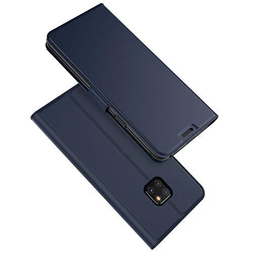 zukabmw Huawei Mate 20 Pro Hülle, Huawei Mate 20 Pro Protects Folio Flip Hülle Schutz schlank Hülle zum Huawei Mate 20 Pro (Blue)