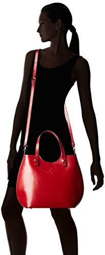 Chicca Borse 80046, Borsa a Tracolla Donna, 40x33x14 cm (W x H x L) Rosso
