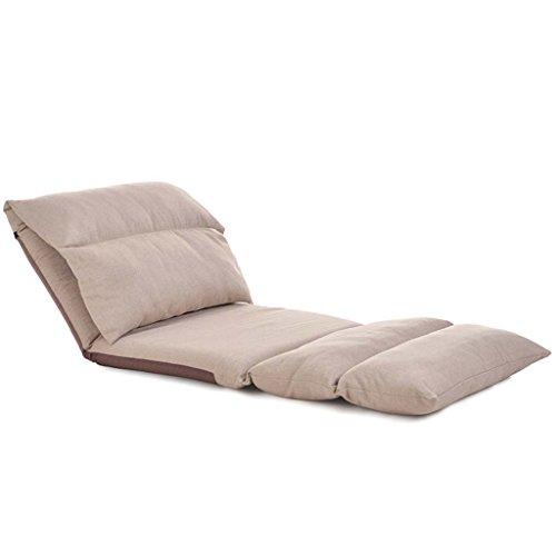 Stühle MEIDUO Haltbare Hocker Faules Sofa Schlafzimmer Wohnzimmer Single Rechteck Zusammenklappbar Liegestühle Waschbar Baumwolle Und Leinen Lounge-Sessel 180 ° Einstellbar Rückenlehne 226 * 68cm für -