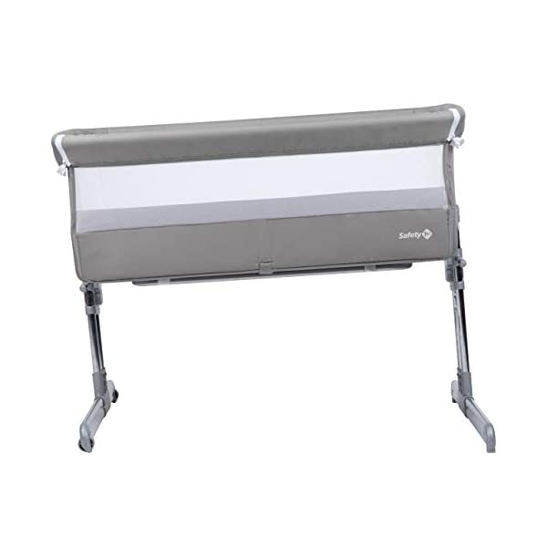 Safety 1st Calidoo Cot Cot Cot Cot Cot Bed Cot Cot Cot Cot with Recliner and 7 Heights Travel Cot for Newborn - Warm Grey Safety 1st Crib side bed for newborns with opening edge to be attached to the parents' bed and sleep next to the child in safety Height adjustable to 7 levels and can be reclined to an anti-backflow position Adjustable feet to be attached to beds with storage box 8