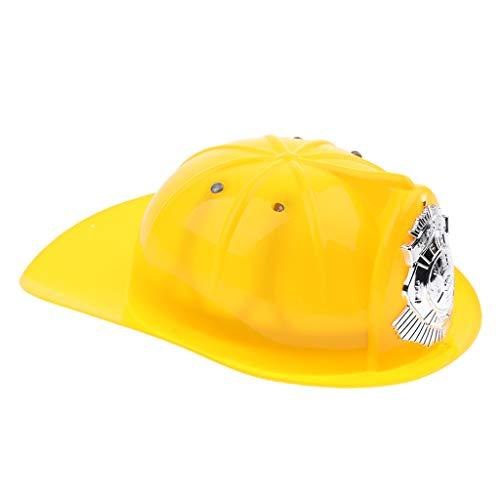 F Fityle Feuerwehrhelm, Feuerwehr-Hut für Kinder - Gelb