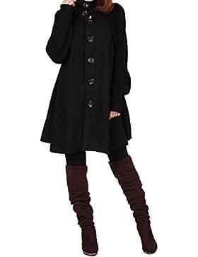 Youlee Mujeres gran dobladillo abrigo de lana Ropa de maternidad