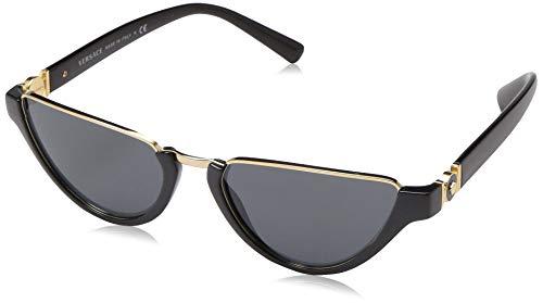 Ray-Ban Damen 0VE4370 Sonnenbrille, Gold (Black), 54.0