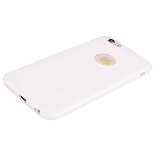 Per iPhone 6 / iPhone 6S Cover , YIGA Verde Silicone Morbido TPU Case Shell Caso Protezione Custodia per Apple iPhone 6 / iPhone 6S (4.7) white