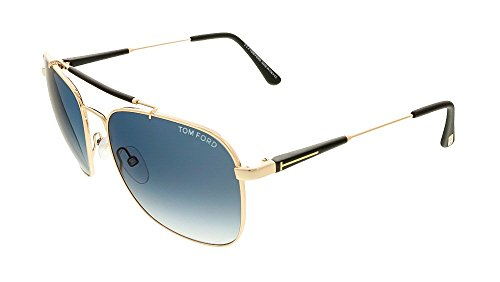 Tom Ford Für Mann 0377 Rose Gold / Brown Gradient Metallgestell Sonnenbrillen, 60mm