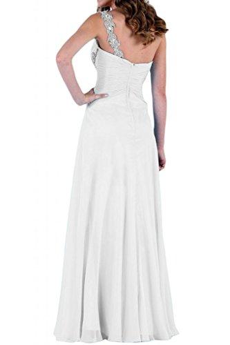 Stile Glamour TOSKANA sposa un-spalla stanotte vestimento per damigella Party Ball Bete vestimento Bianco