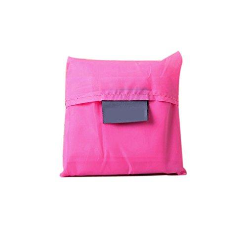 QHGstore Unisex pieghevole riutilizzabile Shopping Bag Pouch borsa Red