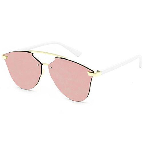 Preisvergleich Produktbild Damen Metallrahmen Sonnenbrille Rosennie Auto Treiber Anti-Reflection Nachtsichtbrille Fahrbrille Reflektierende Street Beat Sonnenbrille Unisex Polarisierte Klassische Runde Retro Sonne Gläser (B)