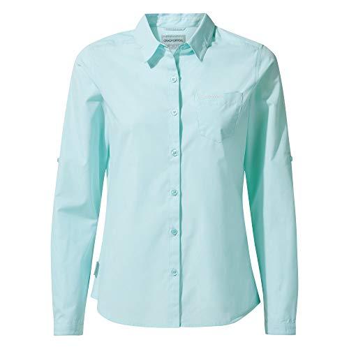 Craghoppers Damen Kiwi Long Sleeved Hemd,Blau(capri blue),44